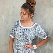 """Одежда ручной работы. Ярмарка Мастеров - ручная работа Платье """"Милое с серыми цветами"""". Handmade."""