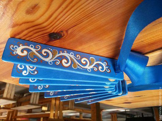 Ударные инструменты ручной работы. Ярмарка Мастеров - ручная работа. Купить Трещетка веерная синяя.. Handmade. Синий, фольклорный инструмент