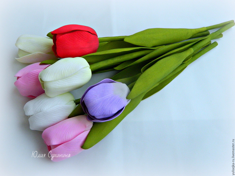 Тюльпаны из фоамирана мастер класс с пошаговым фото шаблоны, парк зарядье
