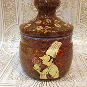 Банки ручной работы. Ярмарка Мастеров - ручная работа Банка для сыпучих продуктов Повара. Handmade.