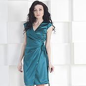 Одежда handmade. Livemaster - original item Dress green silk dress smell. Handmade.