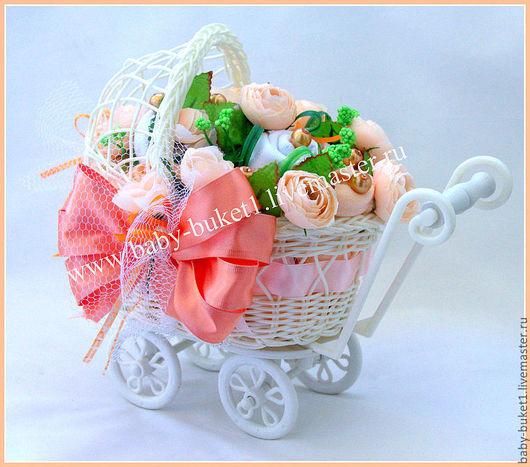 """Подарки для новорожденных, ручной работы. Ярмарка Мастеров - ручная работа. Купить Букет из детской одежды (бэби-букет) """"Лучистое солнышко"""". Handmade."""
