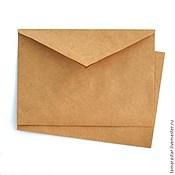 Материалы для творчества ручной работы. Ярмарка Мастеров - ручная работа Крафт-конверты. Handmade.