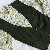 Одежда ручной работы. Ярмарка Мастеров - ручная работа Классический вязаный жилет. Handmade.