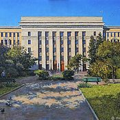 Картины и панно handmade. Livemaster - original item View the biology Department of Moscow state University. Oil on canvas. 2017.. Handmade.