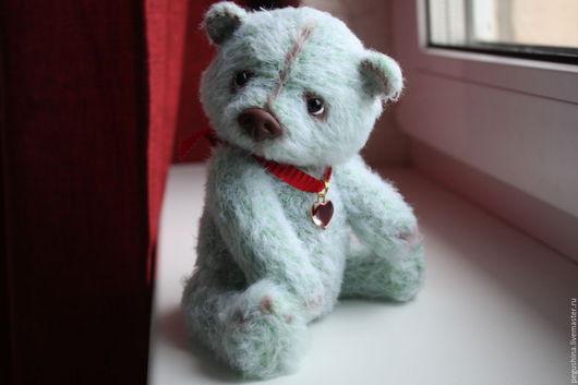 """Мишки Тедди ручной работы. Ярмарка Мастеров - ручная работа. Купить Вязаный медвежонок """"Марк"""". Handmade. Мишки тедди, мятный"""