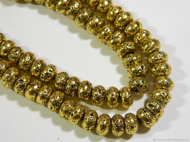 Лава рондель античное золото. (АН) шт, Бусины, Саратов,  Фото №1