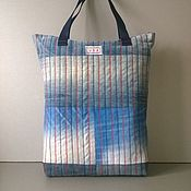 Сумки и аксессуары handmade. Livemaster - original item Ekosumki: Denim shopping bag USA. Handmade.