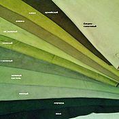 """Материалы для творчества ручной работы. Ярмарка Мастеров - ручная работа Цветной замш / велюр натуральный """"Зелень"""". Handmade."""