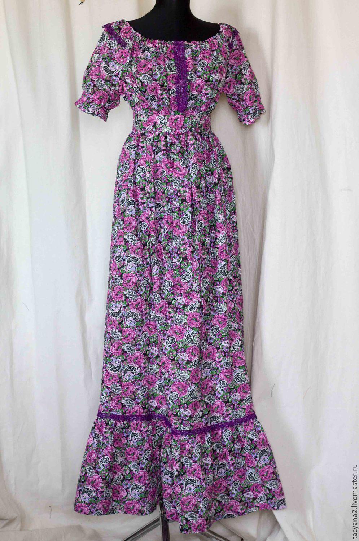Недорогое ситцевое платье