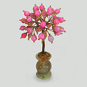 Фен-шуй и эзотерика handmade. Livemaster - original item Love tree beads and pink agate in a vase of onyx. Handmade.