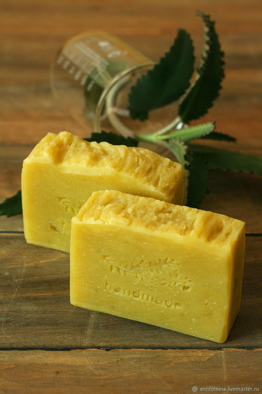 """Мыло ручной работы. Ярмарка Мастеров - ручная работа. Купить """"Каланхоэ"""" натуральное мыло с эфирными маслами. Handmade. Натуральное мыло"""