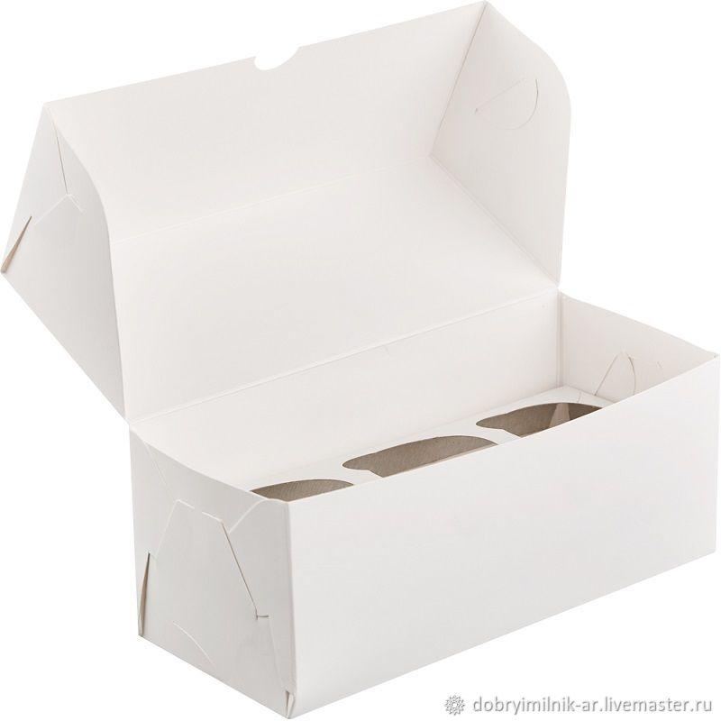 Коробка для бомбочек на 3 шт белая, Коробки, Москва,  Фото №1