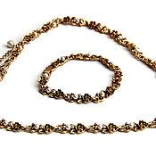 Винтаж handmade. Livemaster - original item Antique gold necklace and bracelet set. Handmade.