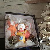 Куклы и игрушки ручной работы. Ярмарка Мастеров - ручная работа Циркачи подарочный набор ватных игрушек. Handmade.