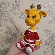 Мягкие игрушки ручной работы. Ярмарка Мастеров - ручная работа Жирафик, вязаная игрушка. Handmade.