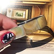 handmade. Livemaster - original item French Vintage Bracelet made of steel and mother of pearl. Handmade.