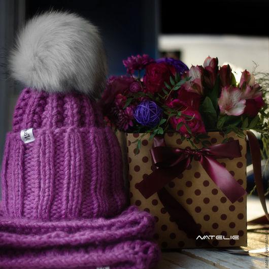 Комплекты аксессуаров ручной работы. Ярмарка Мастеров - ручная работа. Купить ТОБА комплект. Handmade. Оранжевый, шапка, шапка и шарф
