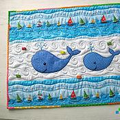 """Для дома и интерьера ручной работы. Ярмарка Мастеров - ручная работа Салфетка на стиральную машину """"Два кита"""". Handmade."""