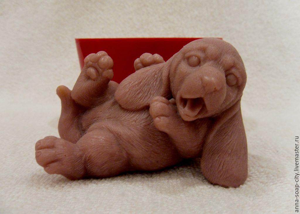 Silicone mold for soap 'Little Basset hound', Makeup tools, Arkhangelsk,  Фото №1