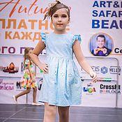 Работы для детей, ручной работы. Ярмарка Мастеров - ручная работа Детское платье для девочки из вышитого батиста. Handmade.