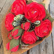 Букеты ручной работы. Ярмарка Мастеров - ручная работа Букет из конфет «Красная арфа». Handmade.