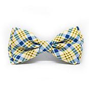 Аксессуары handmade. Livemaster - original item Bow tie blue yellow plaid. Handmade.