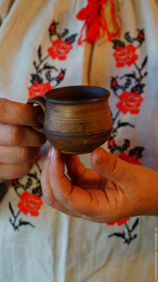Кружки и чашки ручной работы. Ярмарка Мастеров - ручная работа. Купить Кофейная чашечка. Handmade. Коричневый, женщине, глиняная, сувенир
