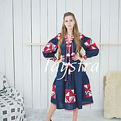 Одежда handmade. Livemaster - original item Embroidered Dress , boho style, Bohemian. Handmade.