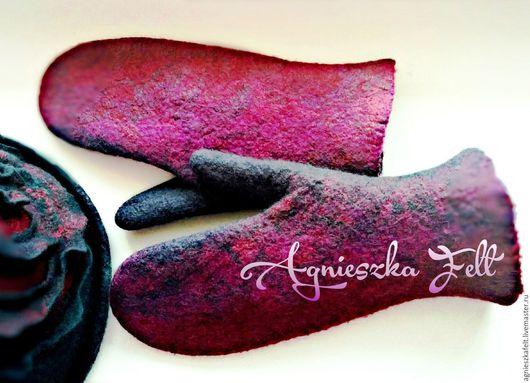 Варежки, митенки, перчатки ручной работы. Ярмарка Мастеров - ручная работа. Купить Варежки Dream of a rose. Handmade.