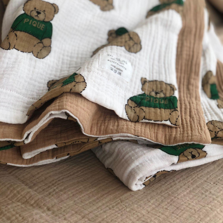 Муслиновое одеяло, Одеяло для детей, Москва,  Фото №1