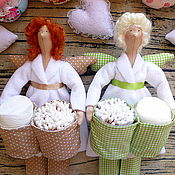 Куклы и игрушки ручной работы. Ярмарка Мастеров - ручная работа Банный ангел тильда,хранительница ватных палочек,дисков.. Handmade.