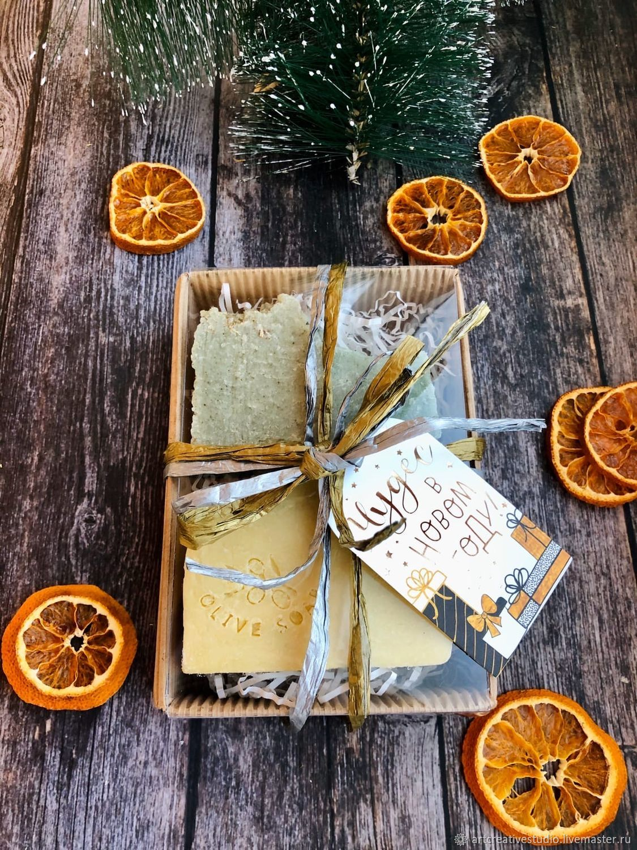 Новогодний подарочный набор мыла ручной работы, Мыло, Набережные Челны,  Фото №1