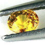 Материалы для творчества handmade. Livemaster - original item Sapphire yellow oval. Handmade.