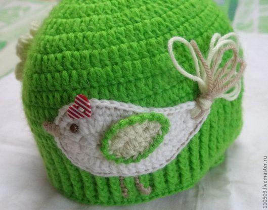 """Для новорожденных, ручной работы. Ярмарка Мастеров - ручная работа. Купить шапки """"птичка"""". Handmade. Шапка детская, шапочка крючком"""
