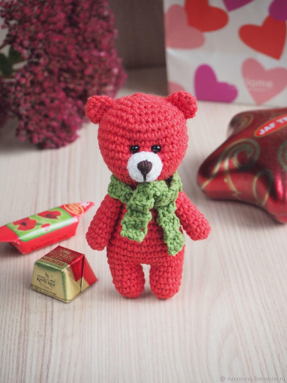 Красный мишка, Мягкие игрушки, Владимир,  Фото №1