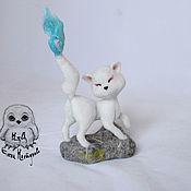 Куклы и игрушки ручной работы. Ярмарка Мастеров - ручная работа Белая лисичка  из храма Инари. Handmade.