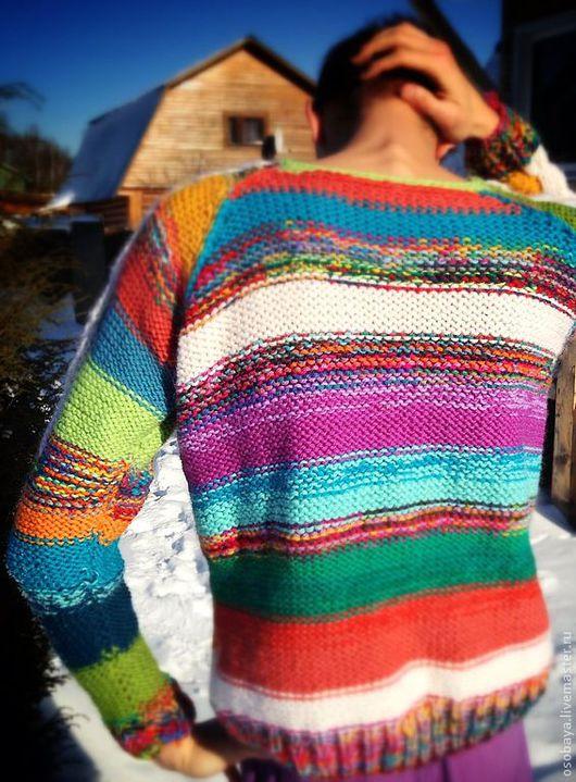 Кофты и свитера ручной работы. Ярмарка Мастеров - ручная работа. Купить sweeter (связано в Карелии) 2. Handmade. Вязаный свитер