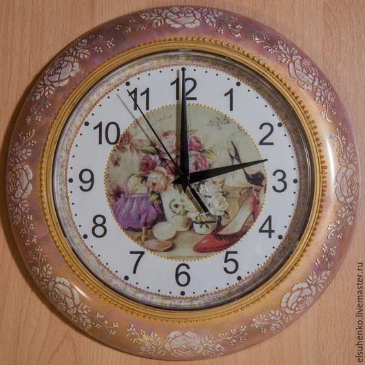 """Часы для дома ручной работы. Ярмарка Мастеров - ручная работа. Купить Часы """"Дамский каприз"""". Handmade. Подарок девушке"""