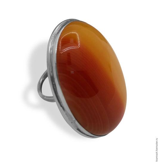 """Кольца ручной работы. Ярмарка Мастеров - ручная работа. Купить Кольцо """"Сила Сердолика"""" из серебра, женское большое, кабошон карнеол. Handmade."""