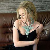 Украшения handmade. Livemaster - original item jewelry made of leather, complete No. №3 Day Dreams. Handmade.