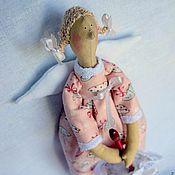Куклы и игрушки ручной работы. Ярмарка Мастеров - ручная работа Кукла в стиле Тильда Фея с зонтиком. Handmade.