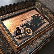 Картины и панно ручной работы. Ярмарка Мастеров - ручная работа Картина. Ретро автомобиль.. Handmade.