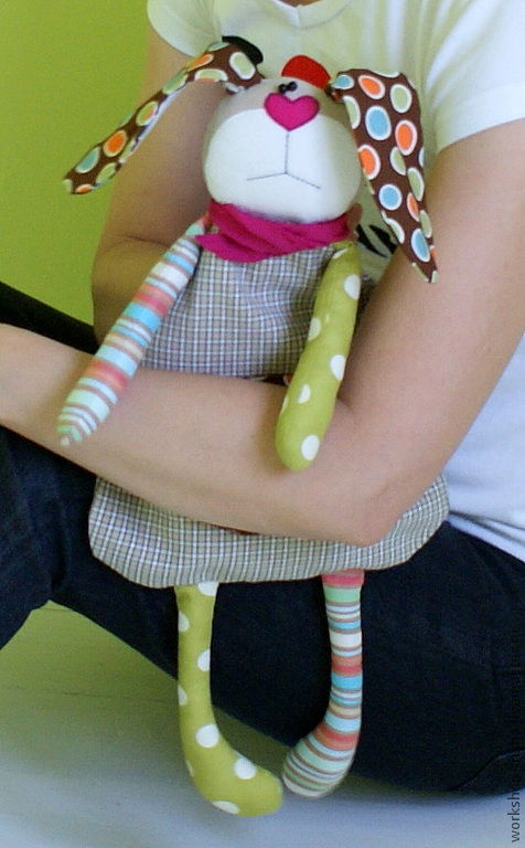 Детская ручной работы. Ярмарка Мастеров - ручная работа. Купить Игрушка для сна. Пижамница.. Handmade. Заяц текстильный, чехол для пижамы