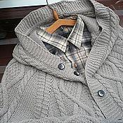 Одежда handmade. Livemaster - original item Cardigan coat jacket for men. Handmade.