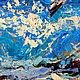 """Пейзаж ручной работы. """"В Танце с Волнами"""" - картина маслом с морем и чайками. ЯРКИЕ КАРТИНЫ Наталии Ширяевой. Ярмарка Мастеров."""