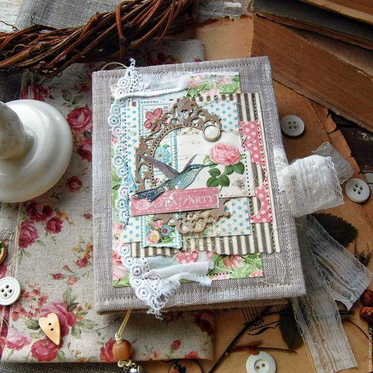 """Блокноты ручной работы. Ярмарка Мастеров - ручная работа. Купить Блокнот """"Botanical tea"""" 2. Handmade. Комбинированный, блокнот для девушки"""
