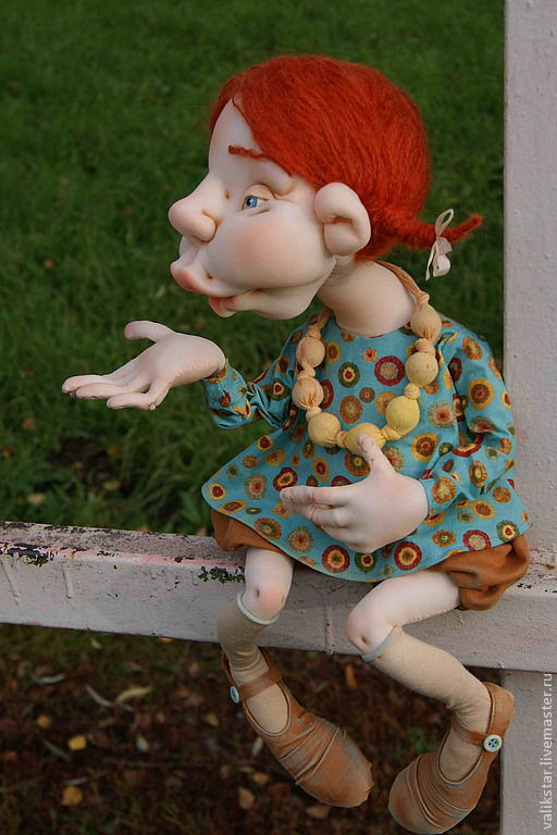 """Коллекционные куклы ручной работы. Ярмарка Мастеров - ручная работа. Купить Авторская текстильная кукла """"Воздушный поцелуй"""". Handmade. текстиль"""