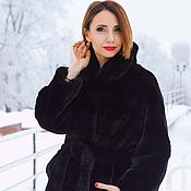 Одежда handmade. Livemaster - original item Coat of eco-fur tissavel. Handmade.