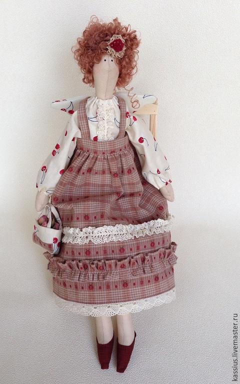 Куклы Тильды ручной работы. Ярмарка Мастеров - ручная работа. Купить Вишневое настроение ( ангел тильда ). Handmade.